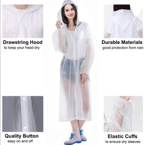 Jackets & Blazers - Sport ☔️ Raincoat Unisex Clear Color